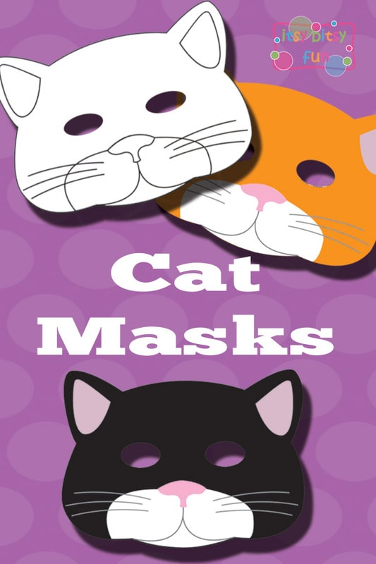 Printable Cat Mask and Template to Color - Itsy Bitsy Fun