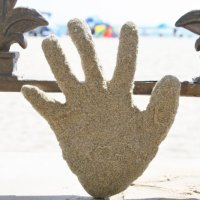Fun Beach Craft - Sand Prints