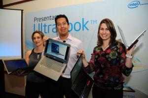 Equipo de Intel Cono Norte mostrando en Lima las Ultrabooks