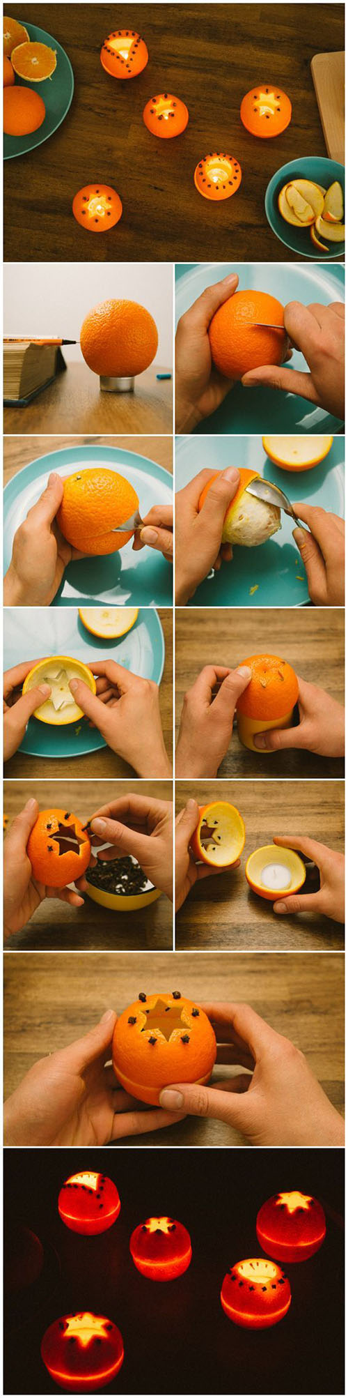 Orange Rind Tea Light Holders Useful Tutorials