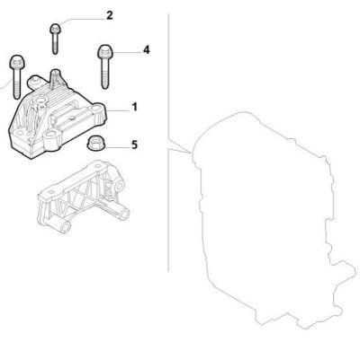 GENUINE ALFA ROMEO 159 BRERA SPIDER ENGINE MOUNT RIGHT SIDE 19 22