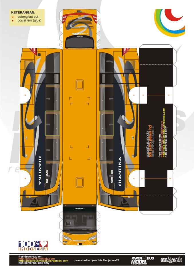jetbushd-shantika-orange1jpg (678×960) paper buses Pinterest - free po template