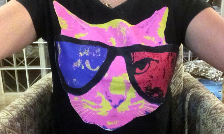 I know you're jealous of my sweet cat shirt!
