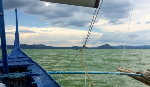 On our way to Taal Volcano Island!