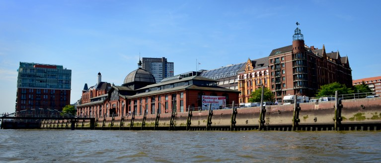 Hamburg has many red brick buildings - part of its charm!