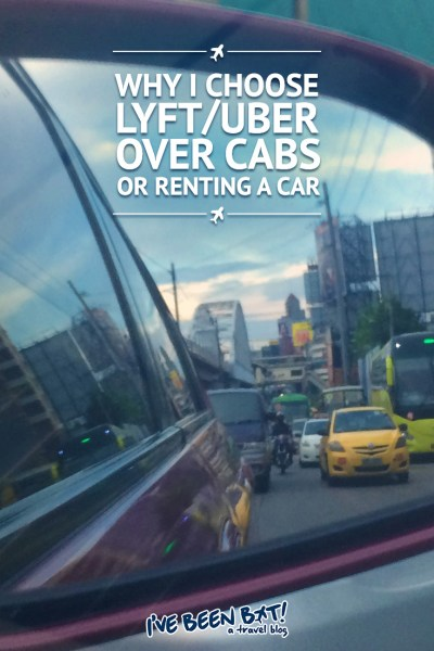 I've Been Bit! A Travel Blog :: Why I Choose Lyft/Uber Over Cabs or Renting a Car | Travel, Road Trip, Cabs, Driving, Ride Share, Sharing Economy |