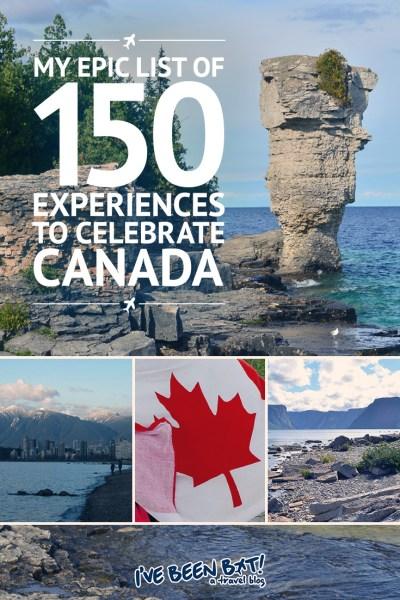 I've Been Bit! A Travel Blog :: My Epic List of 150 Experiences to Celebrate Canada | Canada150, British Columbia, BC, Alberta, AB, Saskatchewan, SK, Manitoba, MB, Ontario, ON, Quebec, QC, New Brunswick, NB, Nova Scotia, NS, Prince Edward Island, PEI, Newfoundland, NL, Nunavut, NU, Northwest Territories, NT, Yukon Territory, YT, Travel |
