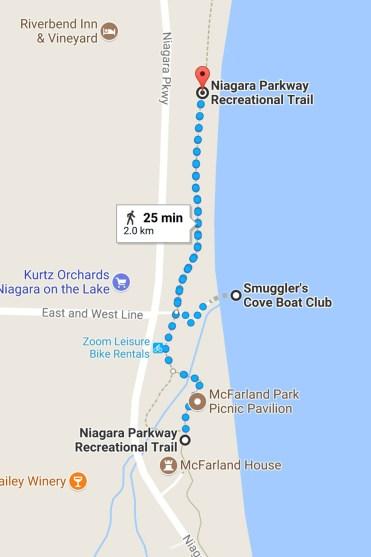30 Walks 30 Days - Niagara Parkway Map :: I've Been Bit! A Travel Blog