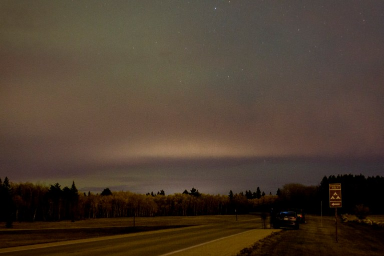 Glimpse of the Northern Lights at Birds Hill Provincial Park, Manitoba Road Trip - 7 Days of Canadian Prairie Adventure :: I've Been Bit A Travel Blog