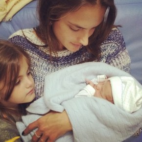 Alessandra Ambrosio welcomes new baby Dylan with her daughter