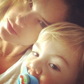 Alessandra Ambrosio and her son Noah