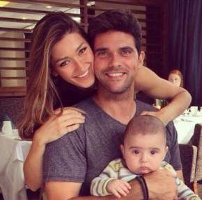 Mark Philippoussis and wife Silvana Lovin with their son Nicholas