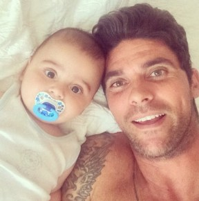 Mark Philippoussis and son Nicholas