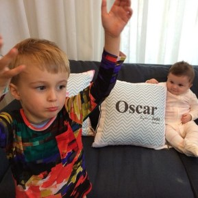 Bec Judd's children Oscar and Billie