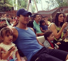 Mario Lopez with his wife Courtney Mazza and their children Dominic and Gia