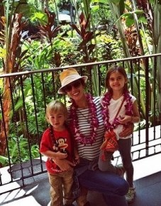 Alessandra Ambrosio with her children Noah and Anja