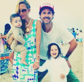 Rachel Zoe and her husband Rodger and children Skyler and Kaius