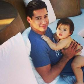 Mario Lopez with his son Dominic