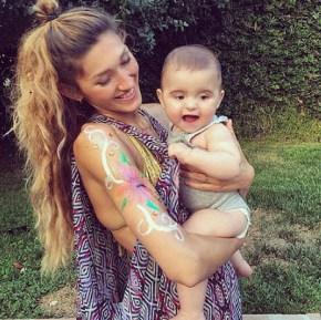 Silvana Lovin with her son Nicholas