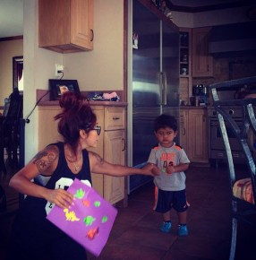 Snooki and her son Lorenzo