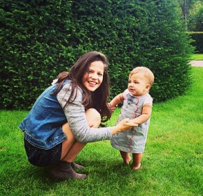 Tammin Sursok with her daughter Phoenix