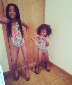 Mel B's daughters Angel and Madison