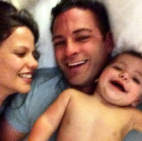 Tammin Sursok with her husband Sean and daughter Phoenix