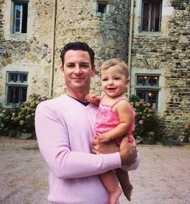 Tammin Sursok's husband Sean with their daughter Phoenix