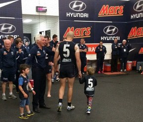 Chris Judd and his son Oscar