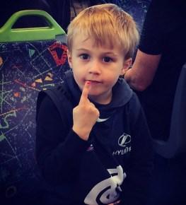Bec Judd's son Oscar