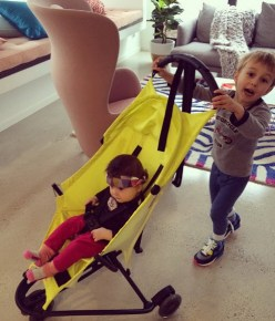 Bec Judd's children Oscar and Billie