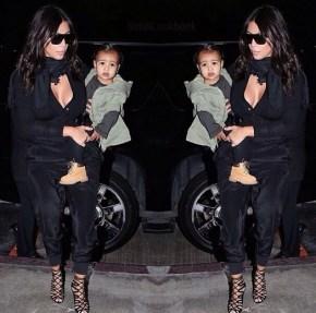 Kim Kardashian and her daughter North