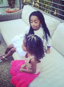 Mel B's daughters Madison and Angel