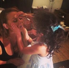 Mariah Carey with her daughter Monroe