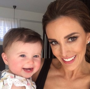 Bec Judd with her daughter Billie