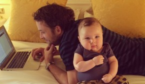 Hamish Blake's baby boy masters an adorable new talent.