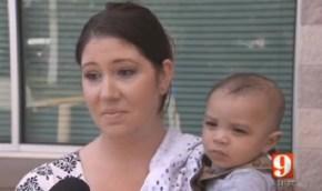 This vegan mum has been accused of child neglect.