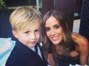 Rebecca Judd's little man has his first day of school.