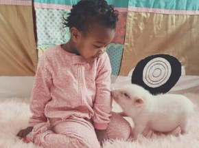 This girl shares an adorable relationship with her pet pig.