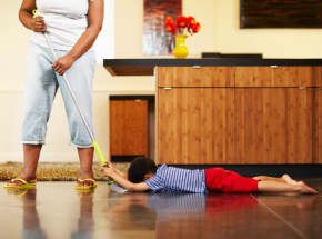 Get your kids to help you around the house. Here's how
