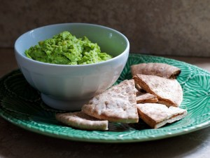 Crushed pea and parmesan dip