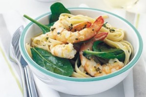 Lemony Prawn Linguine