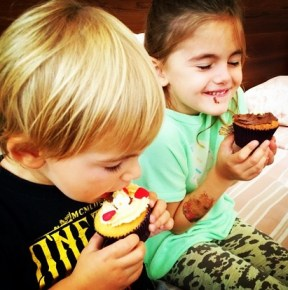 Alessanda Ambrosio's children Noah and Anja