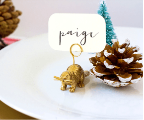 12 days of holiDIY: Animal place card holders