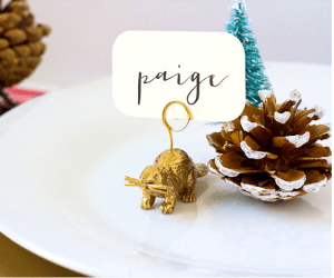 30 days of holiDIY: Animal place card holders