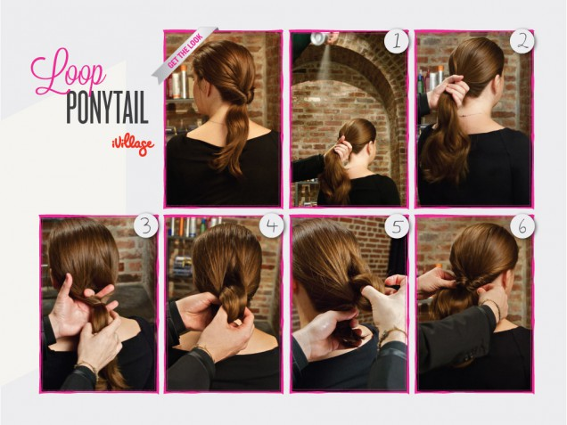 DIY Loop Ponytail