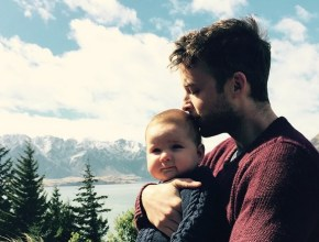 The cutest photo yet of Hamish Blake and his baby boy.