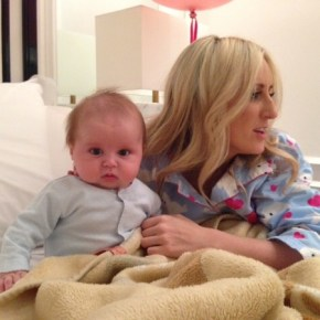 Roxy Jacenko's son Hunter looks thrilled to have a flash in his face