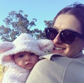Kate Waterhouse and her little lamb