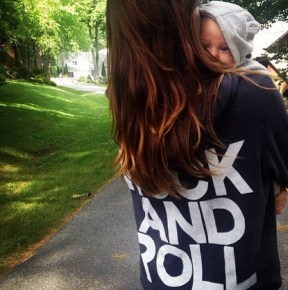Olivia Wilde rocking and rolling with her son Otis, 3-months